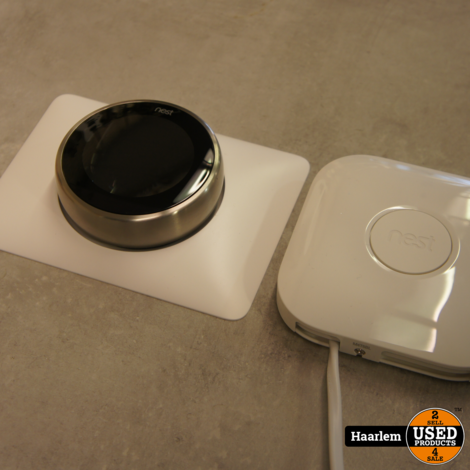 Google Nest thermostaat V3 + module in nette staat