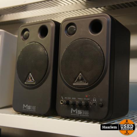 Behringer MS16 actieve monitor speakers - paar