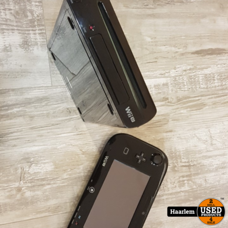Nintendo Wii U 32Gb Black inclusief gamepad en kabels