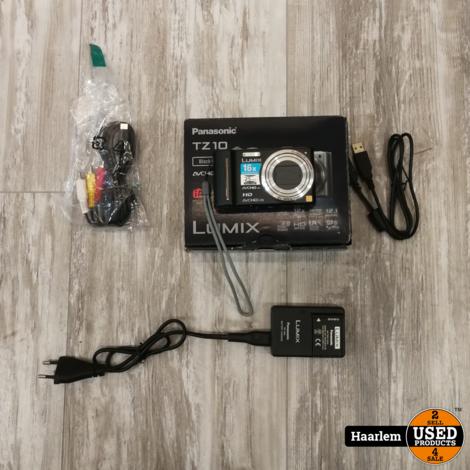 Lumix tz10 camera in prima staat in doos incl oplader en 2 x accu