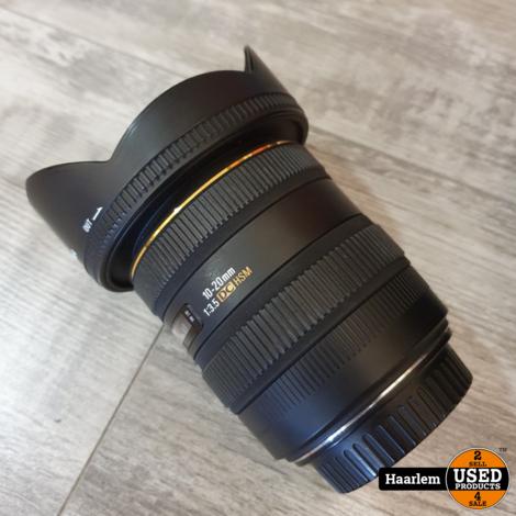Sigma 10-20 3.5 DC HSM groothoeklens voor canon met Hoya cir-p-uv filter