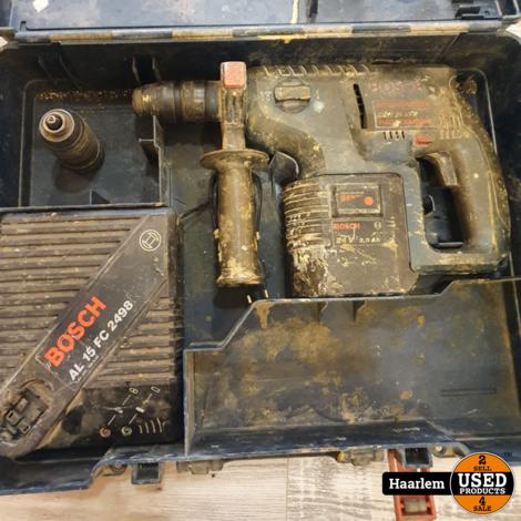 Bosch Hammer GBH 24 VFR 24V in koffer met lader en 3.0Ah accu