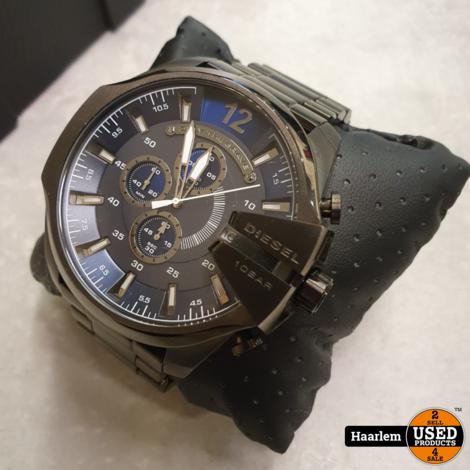 Diesel DZ4329 Horloge metal grey in doosje in prima staat