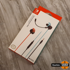 Switch Nintendo Switch Hori Gaming Earbuds Pro - Neon Blauw/Rood