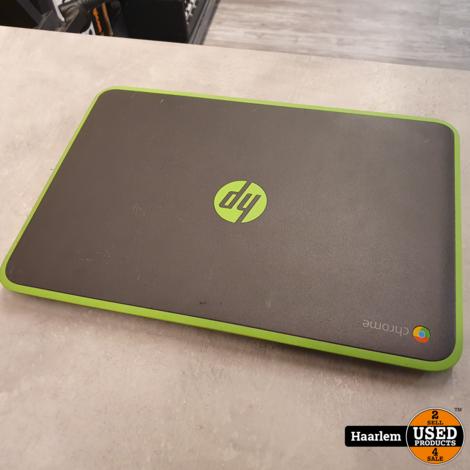 HP Chromebook 11 G4 grijs-groen inclusief oplader