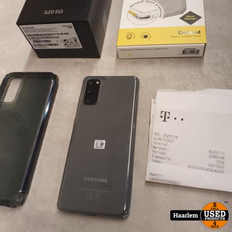 Samsung Galaxy S20 5G 128GB cosmic grey in doos met garantie 27-11-2022