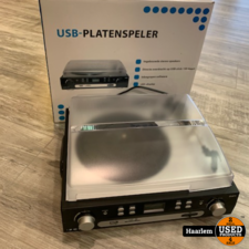 Zolid USB platenspeler met speakers en sd/usb