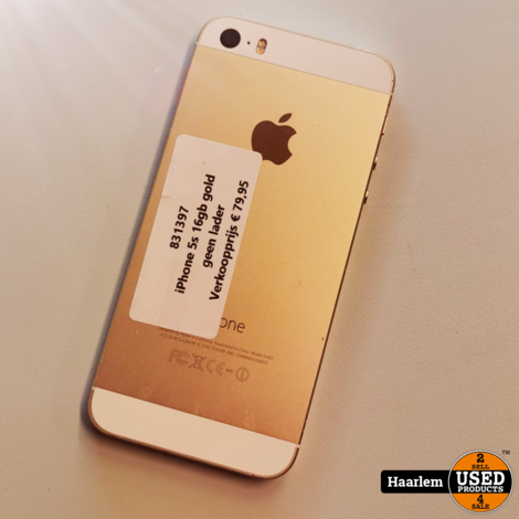 Apple iPhone 5s 16gb gold zonder lader
