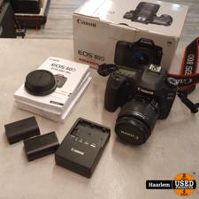 Canon Canon EOS 80D Camera + 18-55Mm lens in nette staat in doos met 3 accu's