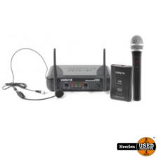 Vonyx 2-kanaals VHF draadloos microfoon