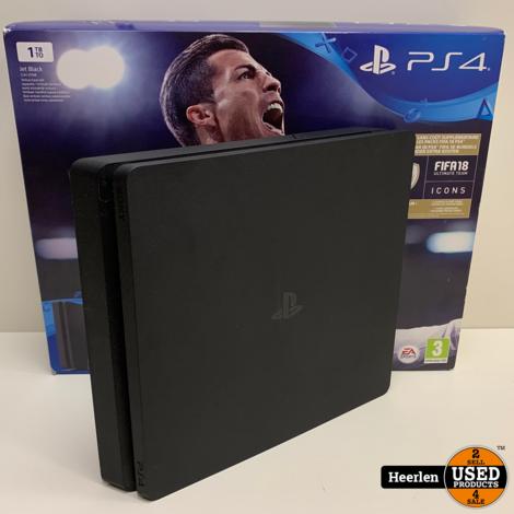 Sony Playstation 4 Slim   1TB   Zwart   A-Grade   Met Garantie