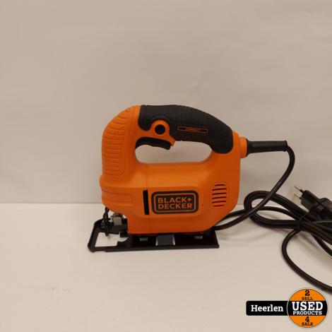 Black+Decker KS501-QS 400W Decoupeerzaag | Rood | A-Grade | Met Garantie