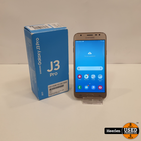 Samsung Galaxy J3 Pro 16GB   Goud   A-Grade   Met Garantie