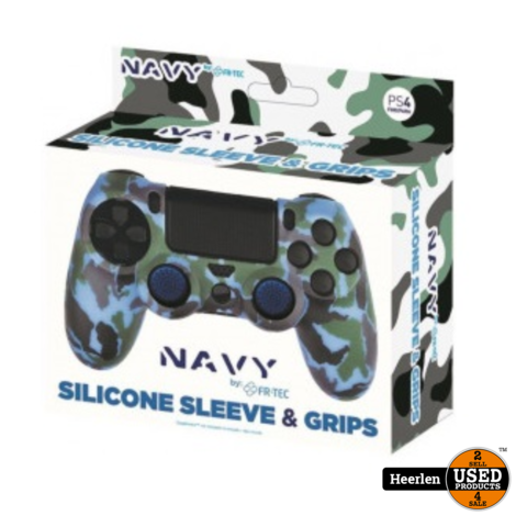 PS4 - Silicone Skin - Thumb Grips | Navy | Nieuw | Met Garantie