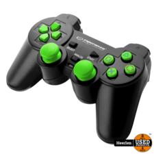 Esp Playstation 3 Controller Trooper - Bekabeld - Groen ***