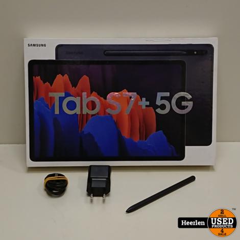 Samsung Galaxy Tab S7 Plus Wifi 5G 128GB | Zwart | A-Grade | Met Garantie
