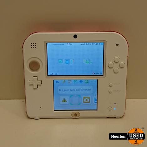 Nintendo 2DS   Wit - Rood   C-Grade   Met Garantie