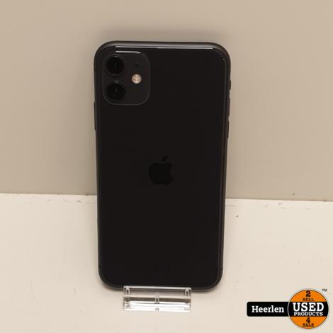 Apple iPhone 11 64GB   Zwart   B-Grade   Met Garantie