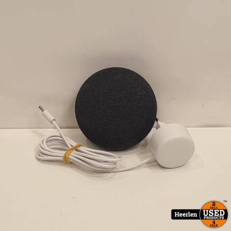 Google Nest Mini   Zwart   B-Grade   Met Garantie