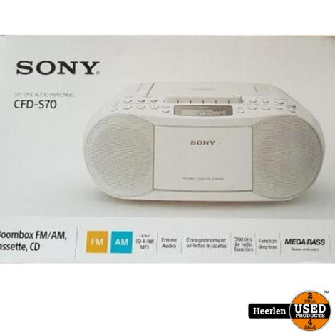 Sony CFD-S70   Wit   Nieuw   Met Garantie