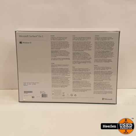 Microsoft Surface Go 2   Intel Pentium Gold   4GB - 64GB   Nieuw   Met Garantie