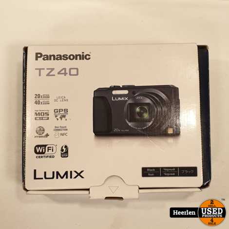 Panasonic Lumix TZ40 | Zwart | A-Grade | Met Garantie