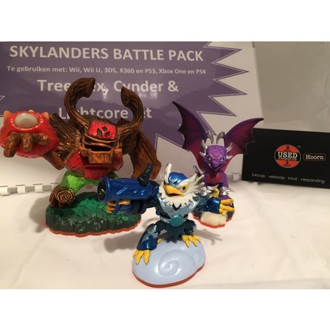 Skylanders Battle Pack : Tree Rex , Cynder & Lightcore Jet Nieuw