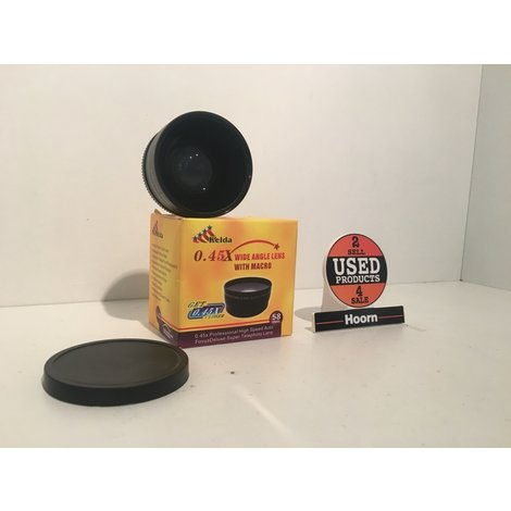 Kelda 0.45X Wide Angle Lens With Macro 58mm In Doos