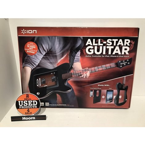 ION Audio Allstar Guitar Zwart voor iPad Compleet in Doos