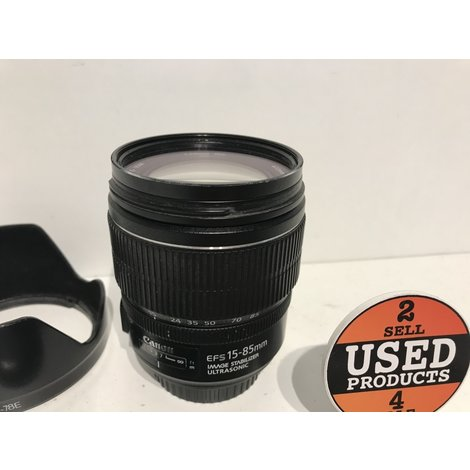 Canon EFS 15-85mm F/3.5-5.6 IS USM Image Stabilizer Ultrasonic Lens met UV Filter en Zonnekap