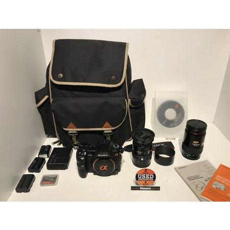 Sony A700 DSLR-A700 Spiegelreflex Camera met Lader en 3 Accu's incl. Minolta 28-85mm Lens en Tokina 35-200mm Lens