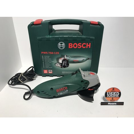 Bosch PWS 750-125 Haakse slijpmachine in Koffer