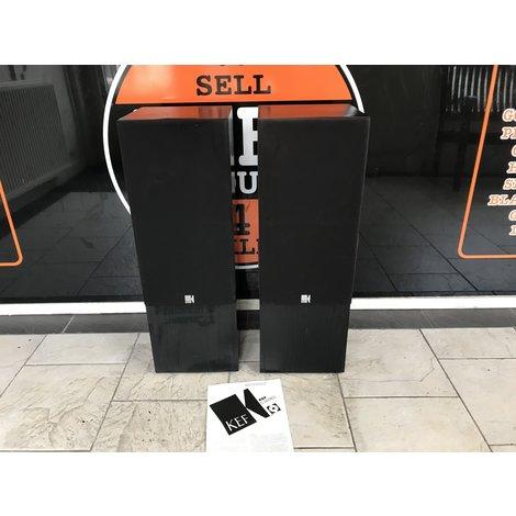 KEF C75 Luidspreker Set Zwart in Nette Staat