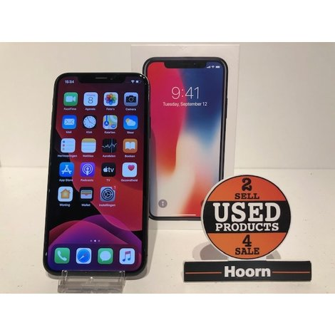 iPhone X 64GB Space Gray Compleet in Doos in Nette Staat