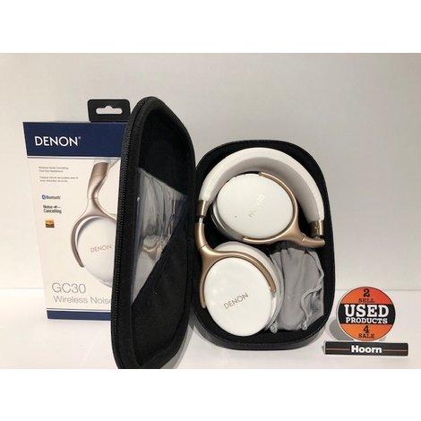 Denon AH-GC30 Over-Ear Bluetooth NC Koptelefoon Wit ZGAN Compleet in Doos