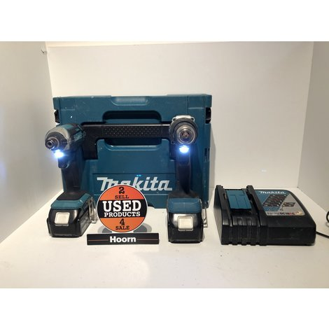 Makita Combi-Set Boormachine DDF484 + Slagschroefmachine DTD152 incl. 2x 18V 5.0Ah Accu en Lader in Mbox