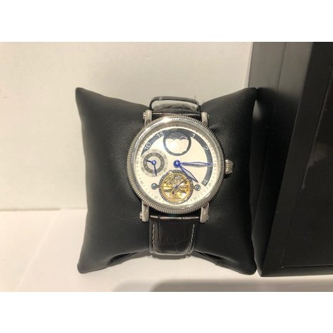 Guy David Automatic Herenhorloge Lederenband Compleet in Doos in Zeer Nette Staat