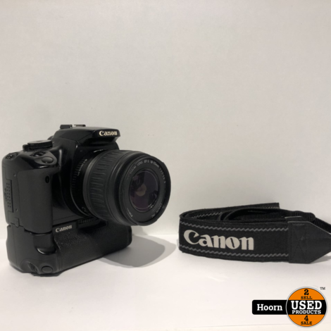 Canon EOS 400D Spiegelreflex Camera met Lader incl. Canon EFS 18-55mm Lens en Canon BG-E3 Battery Grip
