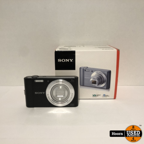 Sony Cybershot DSC-W810 Zwart 20,1 Megapixel Digitale camera Compleet in Doos