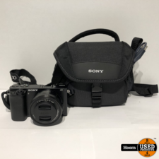 sony SONY Alpha A6000 Systeemcamera Zwart WIFI Met 16-50MM F/3.5-5.6 Lens, Lader en Tas
