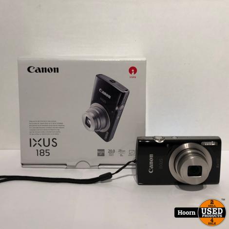 Canon IXUS 185 Digitale Compact Camera 20MP in Doos incl. Lader