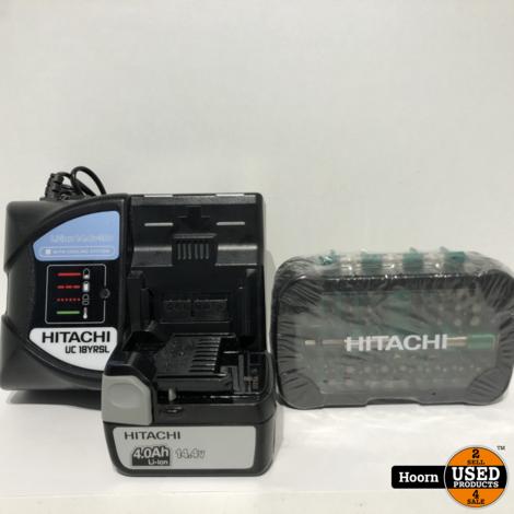 Hitachi DS14DBSL Accuboormachine Met 14,4V 4,0Ah Accu, Lader en Boor-Bit set