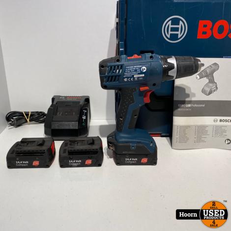 Bosch GSR 14.4-2-LI Professional Accuboormachine in Koffer incl. 3 Accu's en Lader