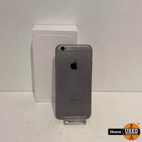 iPhone 6 16GB Space Gray in Doos incl. Lader