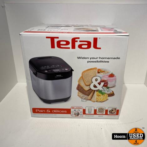 Tefal PF240E38 Pain & Délices Broodbakmachine Zwart Nieuw in Doos
