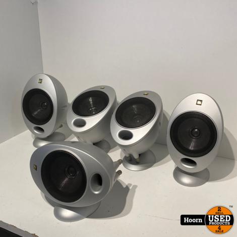 KEF HTS2001 5.0 Speaker Set ( Eitjes ) Zilver