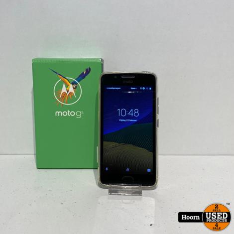Motorola Moto G5 16GB Lunar Grey Dual-Sim in Doos incl. Lader en Hoesje