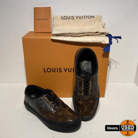 Louis Vuitton Trocadero Monogram Glaze Sneakers Bruin/Zwart Maat:6 / EU:40/41 in Doos met Dustbags in Zeer Nette Staat