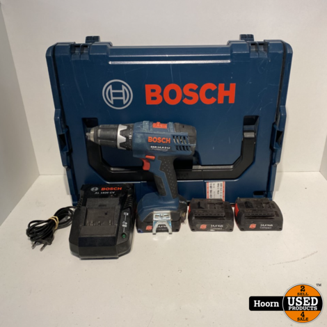 Bosch GSR 14.4-2-LI Professional Accuboormachine in Koffer incl. 3x 14,4V 1,3Ah Accu's en Lader