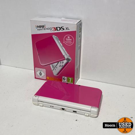 New Nintendo 3DS XL Rose/Wit Compleet in Doos met Lader